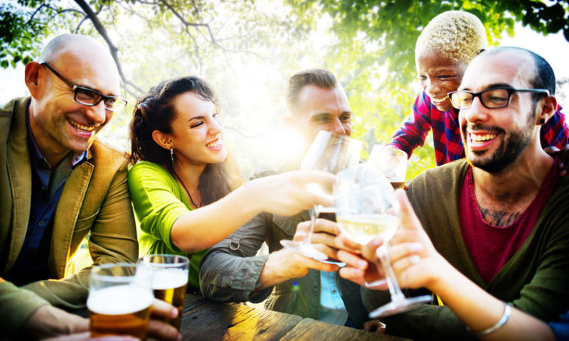 42943316 - friends friendship outdoor chilling togetherness concept